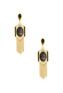 gold-grid-chain-earrings