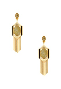 gold-grid-chain-earrings-with-black-highlights