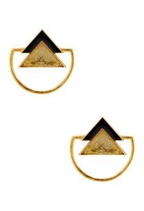 black-gold-triangle-earrings