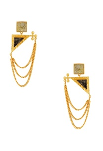 gold-black-stone-earrings-with-chains