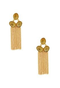 gold-highlighted-stone-with-gold-chained-earrings