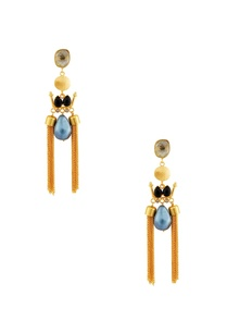 gold-black-earrings-with-blue-stone
