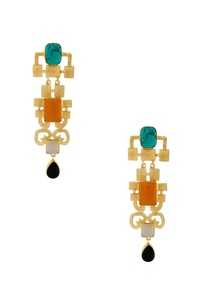 gold-earrings-with-multi-colored-stones