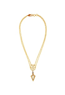 gold-necklace-with-polygonal-pendant