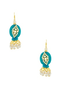 blue-earrings-with-kundan-work