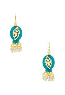 blue-earrings-with-kundan-work