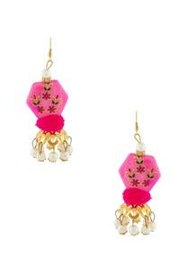pink-hand-painted-earrings