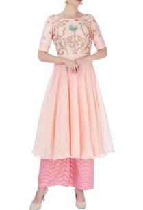 peach-embellished-kurta-palazzos