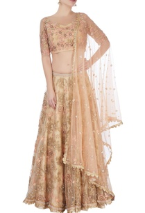 light-gold-dabka-work-lehenga-set