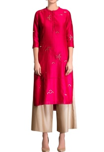 fuschia-pink-kurta-set-with-embroidery