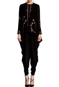 black-kurta-with-screen-printing