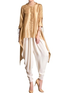gold-asymmetric-kurta