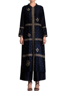 navy-blue-embroidered-jacket-kurta