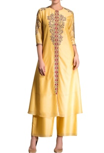 yellow-embroidered-kurta-set