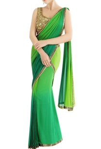 green-shaded-sari-with-embroidery