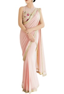 pink-sari-with-embroidered-blouse
