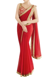red-embroidered-sari