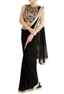black-sari-with-embroidered-blouse
