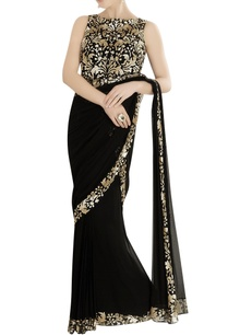 black-gown-sari-with-sequin-embroidery