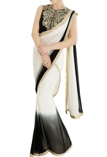 black-ivory-shaded-sari-with-embroidered-blouse