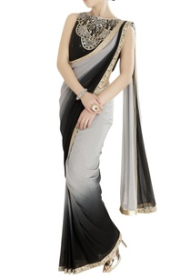 black-grey-shaded-sari-with-embroidered-blouse