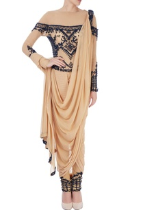beige-dhoti-sari-with-embroidery