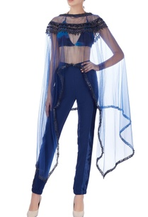 navy-blue-pant-set-with-embroidered-cape