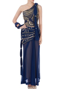 navy-blue-draped-sari-with-embellishments