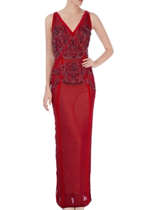 red-gown-with-embellishments