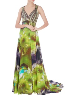 green-printed-gown-with-embroidery