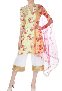 yellow-embroidered-kurti-with-pants