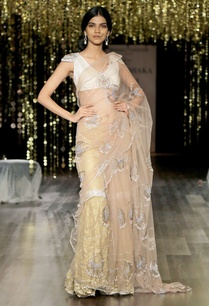 champagne-gold-embroidered-sari-with-sharara