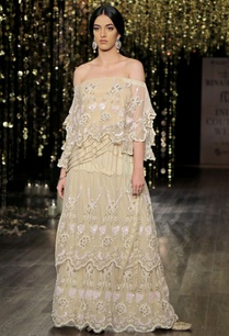 champagne-off-shoulder-embroidered-cape-with-sharara