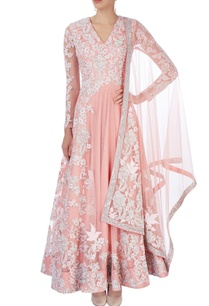 peach-embroidered-anarkali-with-dupatta
