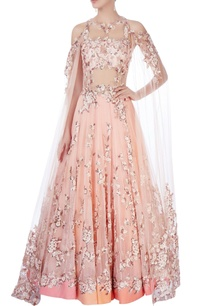 peach-cold-shoulder-gown