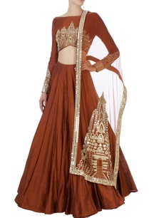 rust-brown-embellished-lehenga-set