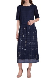 dark-blue-hand-embroidered-floral-midi-dress