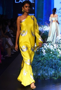 yellow-one-shoulder-dress-with-bell-bottoms