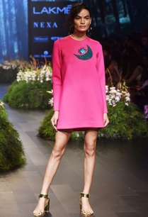 pink-shift-dress-with-embellishments