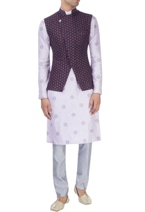 lavender-embroidered-kurta-set-with-purple-bandhi-jacket