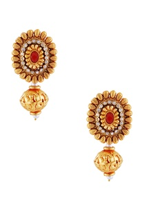 gold-earrings-with-red-stone