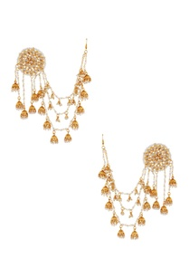 gold-white-beaded-ear-cuff-with-jhumkas