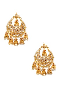 gold-white-earrings-with-jhumkas