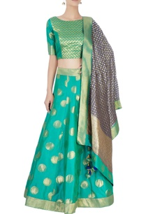 sea-green-lehenga-set-with-motif-patterns