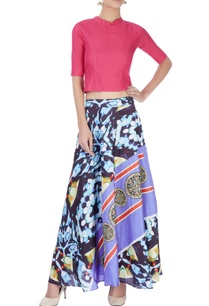multi-colored-printed-skirt-set