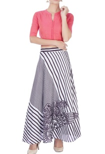 light-pink-top-with-printed-skirt