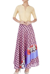 multi-colored-printed-skirt-with-beige-top