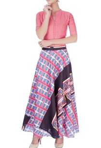 multi-colored-printed-skirt-with-light-pink-top