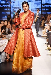 mustard-yellow-silk-sari