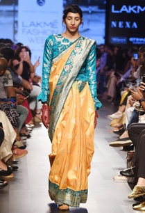 mustard-yellow-rose-motif-sari